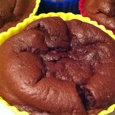 easy cupcakes- 1 ripe banana, one egg, a big spoonful of cocoa powder, a pinch of salt, a bit of baking powder. Mix well in food processor, bake until done. Makes 4 cupcakes.