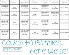 Half Marathon Training: Month 3