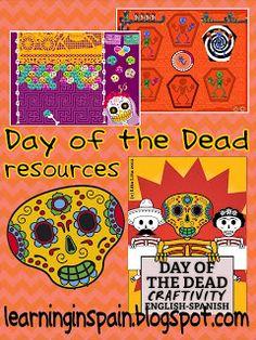 Learning in Spain: Day of the Dead resources dia de los muertos holidays dias feriados