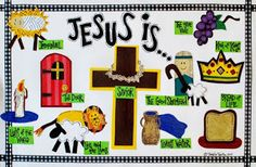 Maak een placemat in thema. Bijv. zoals deze: Jezus is... Deze is $8 // What a great idea! Make a placemat with a theme. Eg. Jesus is... Or buy for $8 each.