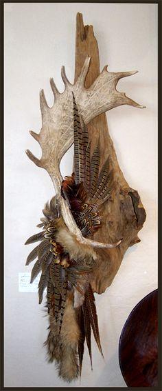 fallow deer antler deer antler feather