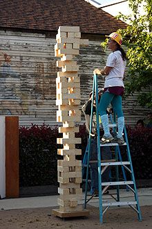 Giant Jenga ~ How FUN would this be at a family party!