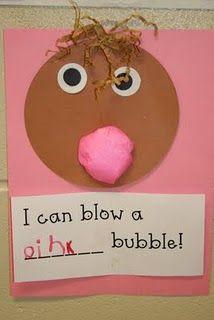 lee kindergarten, cotton, colors, bubbles, pink, papers, color themes, art projects, bubble gum