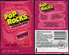 1970's foods   ... Rocks - Strawberry Flavor - no price - pack - General Foods - 1970's