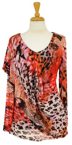 Butterfly Print Tunic~ Best selection of Tunics & matching accessories ~ Flat postage worldwide ~ Petite to Plus sizes ~ www.ilovetunics.com