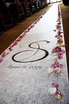 Impresión vinilo suelo para bodas personalizado con pétalos de flores