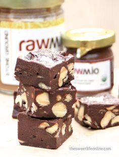 Raw Salted Chocolate Hazelnut Fudge - Vegan