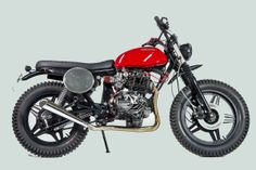 The humble Honda CB400N gets a shot of scrambler style from emerging Italian builder @Isidoro Stellino. See more images at http://www.bikeexif.com/honda-cb400n