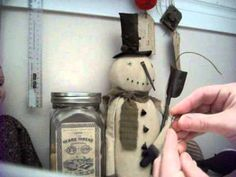 PART 2: Making Primitive Christmas Dolls- video tutorial