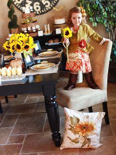 Sunflower-Themed Thanksgiving Dessert Buffet : Decorating : Home & Garden Television