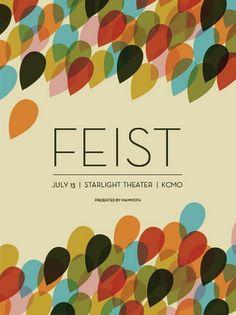 Feist concert poster.