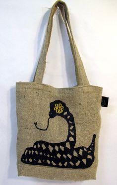 7 eyed snake tote made of magic + burlap
