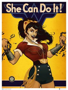 Wonder Woman: Here's an extremely cool set of 1940s-style pin-up art featuring several iconic heroines form the DC Comics universe. They were created by Ant Lucia, and I think they turned out beautifully.