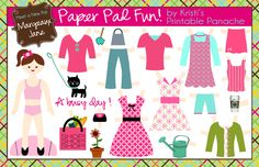 i should be mopping the floor: Free Paperdoll Printables
