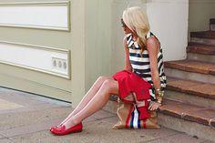 atlantic pacific, dress, peter pan collars, red white blue, tory burch, nautical theme, shoe, the navy, stripe