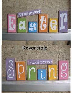 Easter/Spring Wood Words, Easter & Spring Crafts
