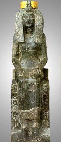 Egypt Picture - Seated Statue of Isis, Mother of Tuthmosis III