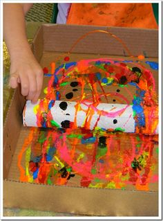 printing with a paper towel tube: Grade 1