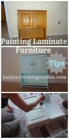 Painting Laminate Furniture DIY