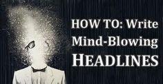 Web marketing - writing snappy headlines