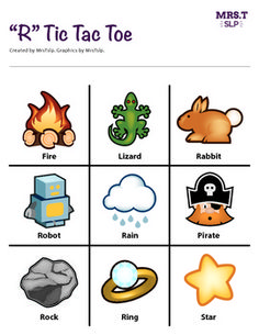 """""""R"""" Tic Tac Toe: a speech therapy activity"""