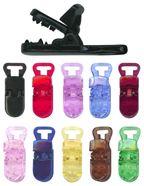 plastic paci clips