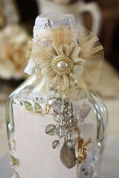 creativ patch, felt crafts, gift ideas, decorative bottles, altered bottles, alter bottl, table numbers, bottl bless, old bottles