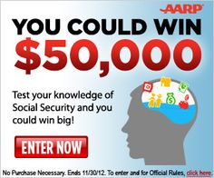 AARP Fill The Gap Sweepstakes – Enter to Win 50,000