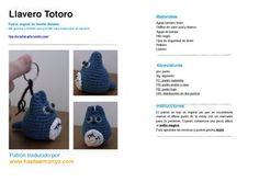 Amigurumi Totoro (para llavero) Patrón Gratis en Castellano (2 páginas)
