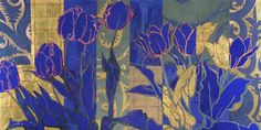 Robert Kushner.  Eight Pink Tulips. Gallery Jerald Melberg artist, pink tulip