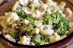 Broccoli, Cauliflower Salad with Raw Vegan Mayo! By: Megan Hamilla for the FullyRaw Kristina Recipe Competition!