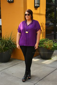Melanie chiffon top featured! LINK TO BUY TOP > http://www.swakdesigns.com/plus-size/p-994-melanie-chiffon-blouse.aspx?affilID=10085