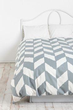 Herringbone Duvet Cover-gray
