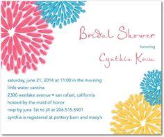 Studio Basics: Bridal Shower Invitations Spring Blooms - Front : Medium Pink