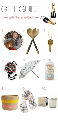 Top 10 Gifts that Give Back - What's Gaby Cooking