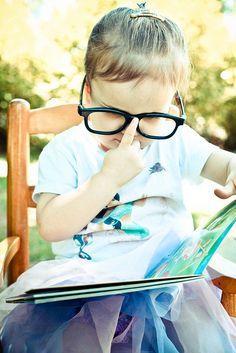 :) #photography #kids #princess #glasses #vintage #fun #reading