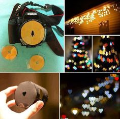 diy camera filters - I like the circles and the hearts