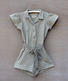 Take a look at this Gray Jojoba Romper - Toddler & Girls by Joyfolie on #zulily today!
