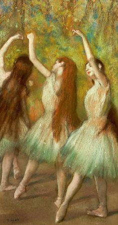 degas... green dancers