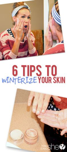 Say goodbye to flaky skin as the weather cools down. 6 tips for winterizing your skin via How Does She