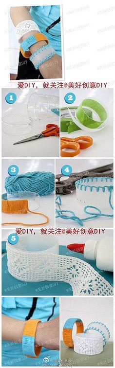 DIY Plastic Bottle Bracelet