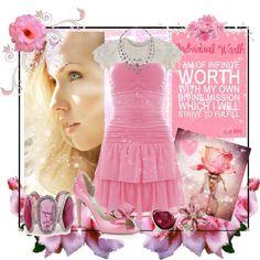 """""""LDS YW Value - Individual Worth"""" fashion board"""
