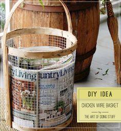 DIY: Chicken wire basket