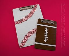 Duct Tape Sports Clipboards by Amanda Formaro of Crafts by Amanda