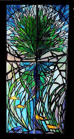 Tree in dalle de verre style