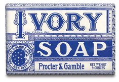 blue, ivori soap, ivory soap, soap packaging, vintage design