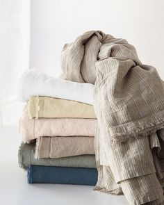 Eileen Fisher Washed Linen Bedding