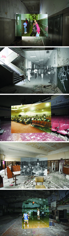 before and after, abandoned detroit schools