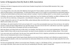 Letter of Resignation Sent By Former President George H. W. Bush to NRA in 1995 - New York Times