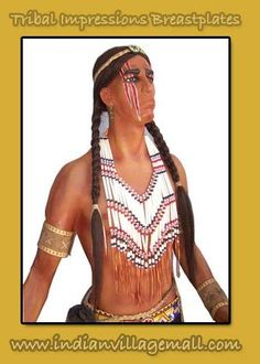 Fringed Bottom Breastplate - Review the Tribal Impressions Breastplate collection off of: http://indianvillagemall.com/dreamcatchers/breastplates.html